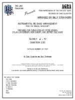AGRA (FROM THE FAR EAST SUITE): Arranged by Billy Strayhorn, Prepared by Rob DuBoff and Jeffrey Sultanof: Jazz Lines Publications